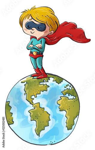 niño superheroe en el mundo