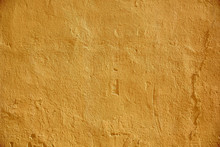 Yellow Painted Stone Wall Surface