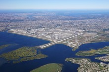 Aerial View Of The John F. Kennedy International Airport (JFK) In Queens, New York