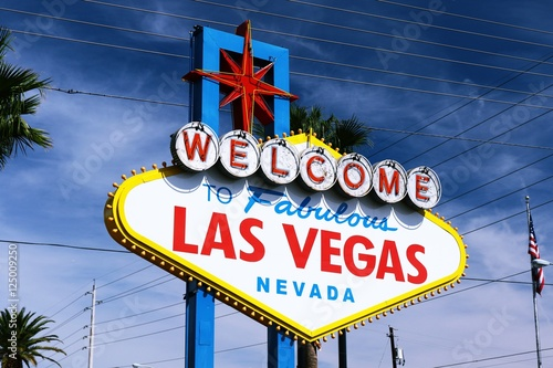 Poster Las Vegas Welcome to Never Sleep city Las Vegas,America