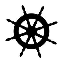 Boat Rudder Icon Image Vector Illustration Design