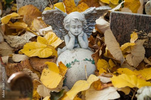 Keuken foto achterwand Begraafplaats détail ange au cimetière