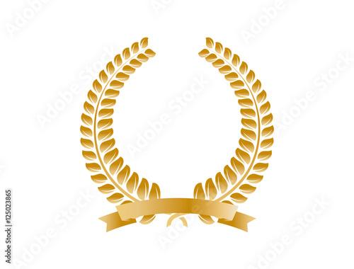 Fotografie, Obraz  月桂冠の飾り枠(ゴールド)