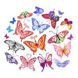 Butterfly logo set