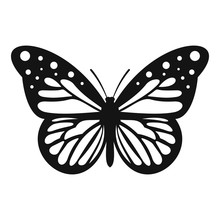 Big Butterfly Icon. Simple Ill...