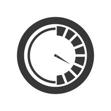 Pressure Gauge Device Icon Vec...