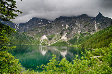 Obraz na Szkle Style Morskie Oko lake in Poland