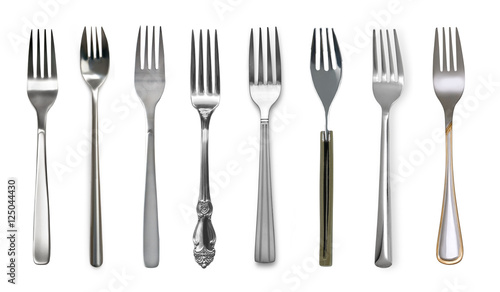 Fotografie, Obraz  Fork  isolated on white