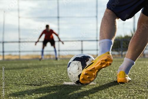 Football player kicking