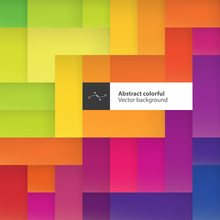 Color Squares. Abstract Geomet...