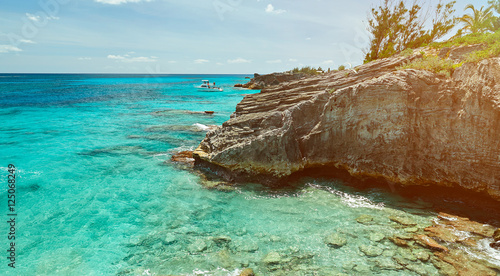 Photo bermuda coast line