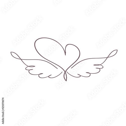 Foto  сердечко с крыльями