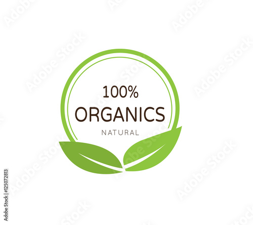 Fotografiet  Organic product badge. organic logo