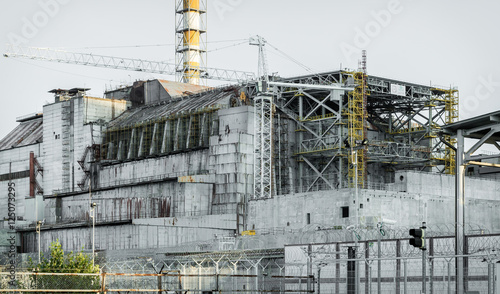 Old sarcophagus in Chernobyl  - Buy this stock photo and
