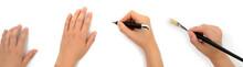 Hände Beim Schreiben Und Malen