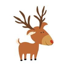 Red Nose Rudolph Deer Cartoon ...