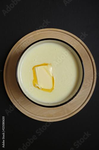 Foto op Plexiglas homemade semolina with butter 4