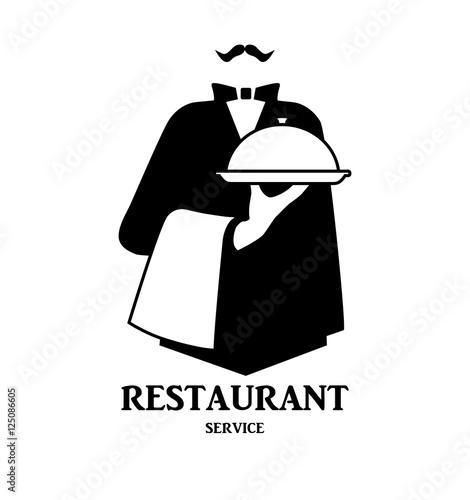 Waiter logo design #2
