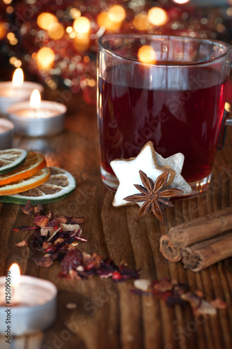 Mulled Wine Christmas Market.Mulled Wine On A Christmas Market Buy This Stock Photo And