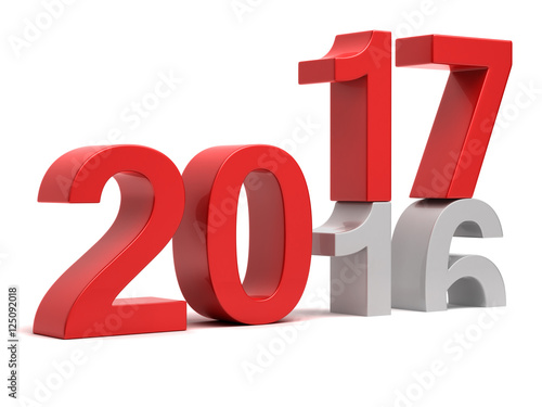 Photographie  2016 2017 New year change concept