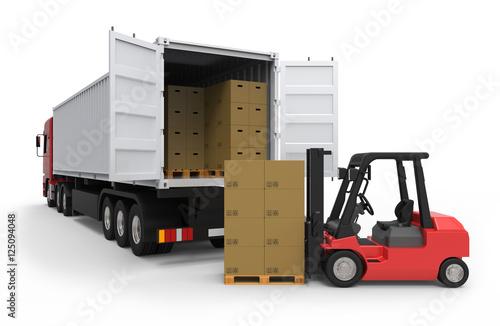 Zdjęcie XXL Ciężarówka z wózkiem widłowym