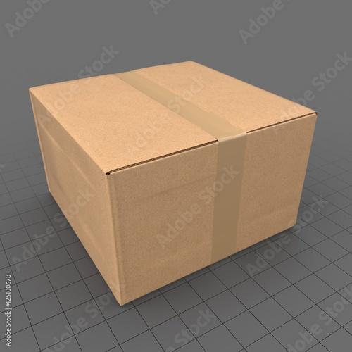 cardboard box 4 acheter ce fichier 3d libre de droit et d couvrir des fichiers similaires sur. Black Bedroom Furniture Sets. Home Design Ideas