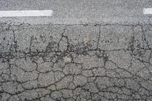 Urban Roadway Damaged Asphalt