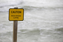 Warning Sign On The Beach Eros...