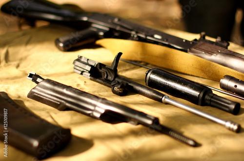 Assembly parts of kalashnikov assault rifle ak74 - Buy this stock