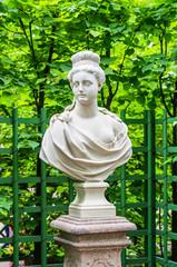 Anticient statue in Summer garden in Saint-Petersburg