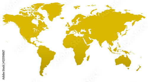 Türaufkleber Weltkarte Similar world map blank for infographic isolated