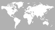 Gray similar world map blank for infographic