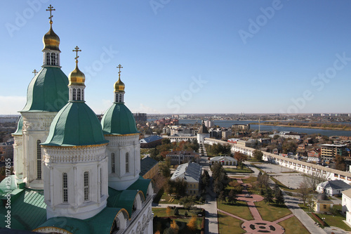 View of Astrakhan Kremlin and Cathedral Wallpaper Mural