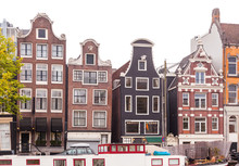 Traditional View Of Streets And Buildings In Holland