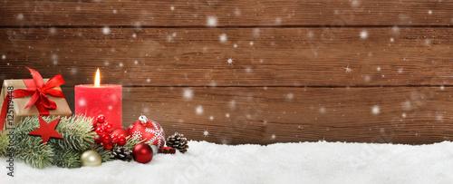 Weihnachten / Kerze / Holz