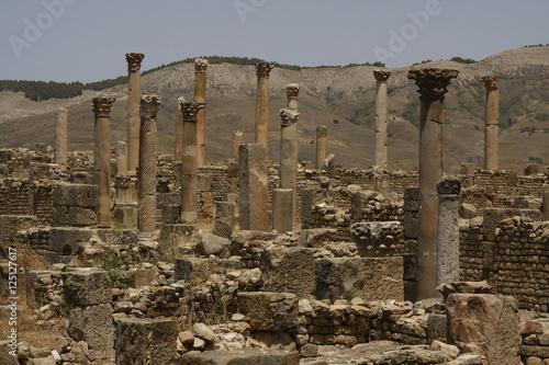 Poster Algerije Columns of Djemila, Algeria