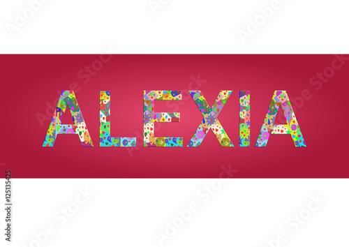 Vorname Alexia, Grafik Canvas Print