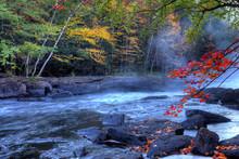Algonquin River Rapids In Autumn