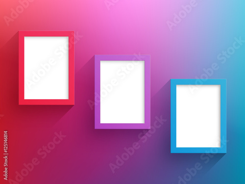 Vector 3 Red Blue Frames Design With White Background Buy This