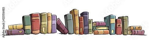 Canvastavla estanteria de libros