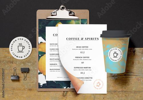 Coffee Shop Branding Mockup. Kaufen Sie diese Vorlage und finden Sie ...