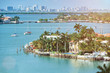 canvas print picture - waterfront in miami city