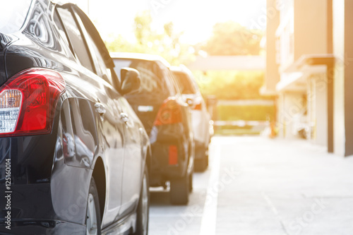 Car parking Canvas Print