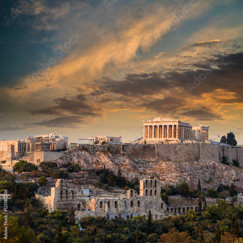Printed kitchen splashbacks Athens Parthenon, Athenian Acropolis, Athens, Greece