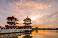 Twin Pagoda Of Chinese Garden