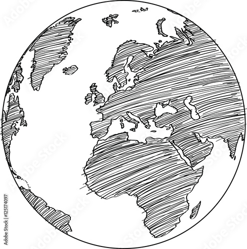 World map globe vector line sketch up illustrator eps 10 buy world map globe vector line sketch up illustrator eps 10 gumiabroncs Choice Image