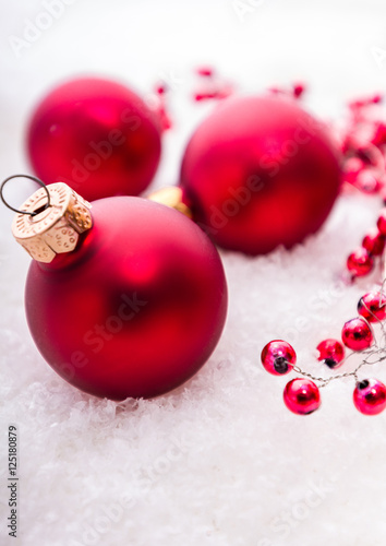 Rote Christbaumkugeln.Rote Christbaumkugeln Buy This Stock Photo And Explore
