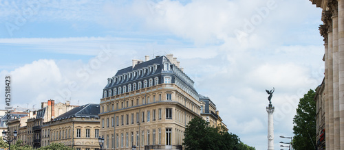 Photo sur Toile Con. Antique Architecture, Historic building,City of Bordeaux, France