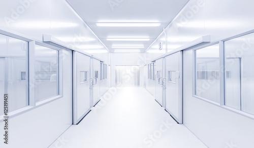 Fotografie, Obraz  modern interior science lab with lighting from gateway