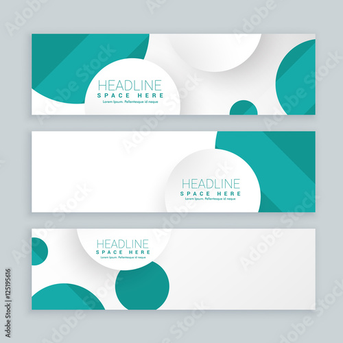 Fototapeta clean business style banners set of three template obraz